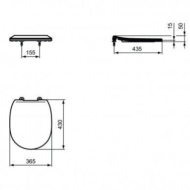 Komplektas: WC rėmas Ideal Standard Prosys Eco su klavišu, unitazas su dangčiu 8
