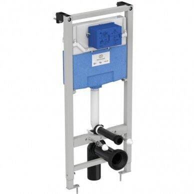 Komplektas: WC rėmas Ideal Standard su klavišu, klozetas su dangčiu 4