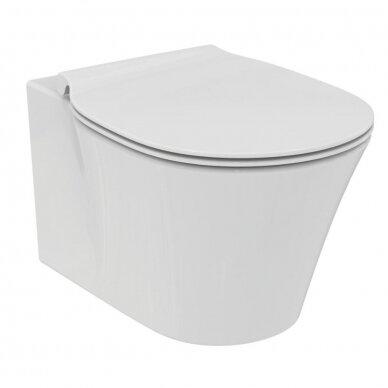 Komplektas: WC rėmas Ideal Standard su klavišu, klozetas su dangčiu 2