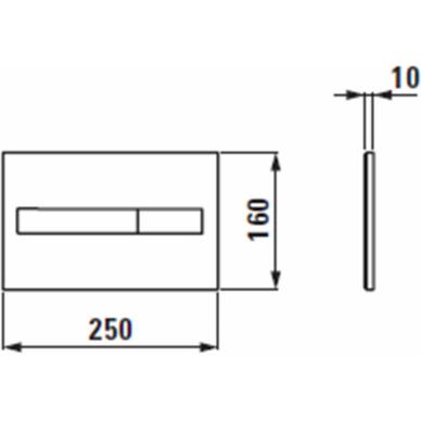 Klozeto rėmas Laufen LIS ir LIS Dual Flush mygtukas 6