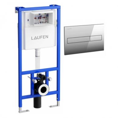 Klozeto rėmas Laufen LIS ir LIS Dual Flush mygtukas