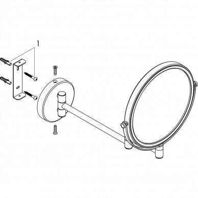 Kosmetinis veidrodis Hansgrohe Logis Universal 3