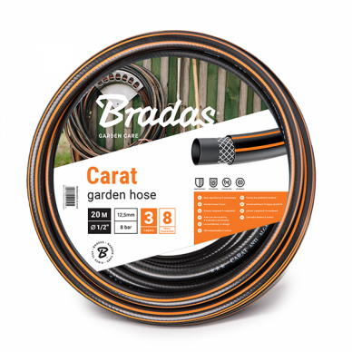 """Laistymo žarna Bradas Cart - 1/2"""" 50 m"""