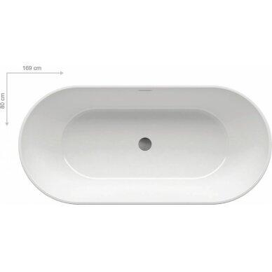 Laisvai stovinti akrilinė vonia Ravak Freedom O 169 cm 4