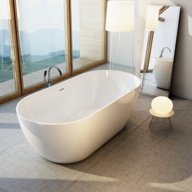 Laisvai stovinti akrilinė vonia Ravak Freedom O 169 cm 3
