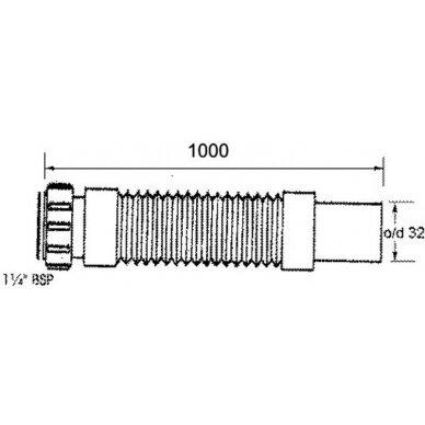 """Lanksti žarna 1 1/4""""x32 mm HC1, HC2 sifonams 2"""
