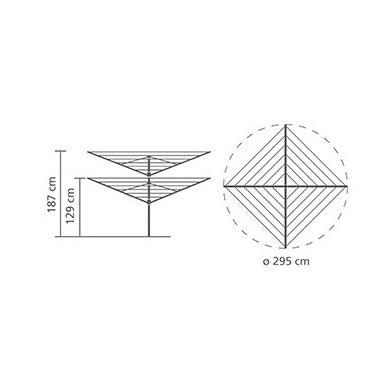 Lauko džiovykla Brabantia Lift-O-Matic 50 m 3