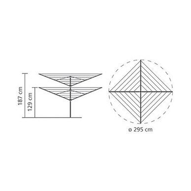 Lauko džiovykla Brabantia Lift-O-Matic 60 m 4