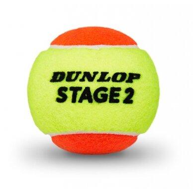 Lauko teniso kamuoliukai DUNLOP STAGE 2 2