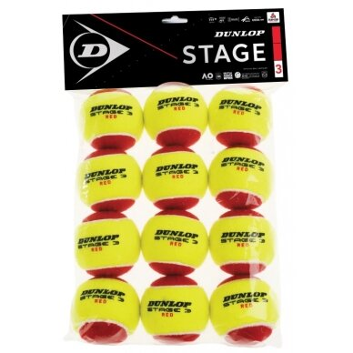 Lauko teniso kamuoliukai DUNLOP STAGE 3