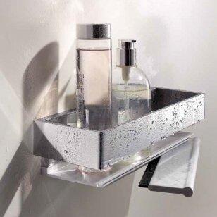 Lentynėlė dušui Keuco Edition 11 su integruotu stiklo valytuvu