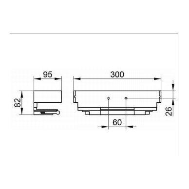 Lentynėlė dušui Keuco Edition 11 su integruotu stiklo valytuvu 3