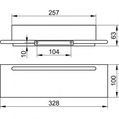 Lentynėlė dušui Keuco Edition 400 su integruotu stiklo valytuvu 4