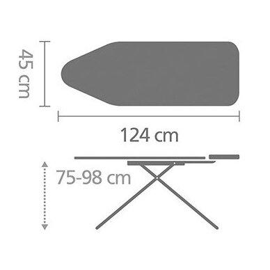 Lyginimo lenta Brabantia C, 124x45 cm 4