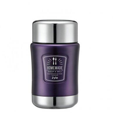 Maistinis termosas Zyle HomeMade 0,5 l, violetinis