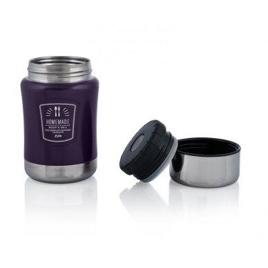 Maistinis termosas Zyle HomeMade 0,5 l, violetinis 2