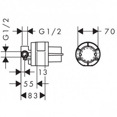 Maišytuvas plautuvei Hansgrohe Logis M32 2