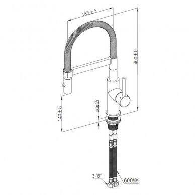 Maišytuvas plautuvei Villeroy & Boch Steel Expert Compact 5