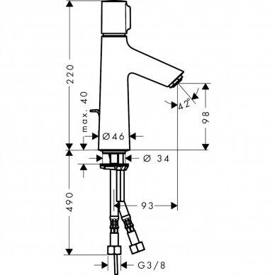Maišytuvas praustuvui Hansgrohe Talis Select S 3