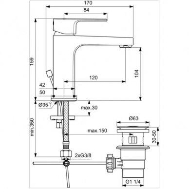 Maišytuvas praustuvui Ideal Standard Cerafine D H105 2