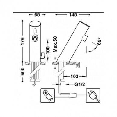 Maišytuvas praustuvui Tres Electronic sensorinis 4