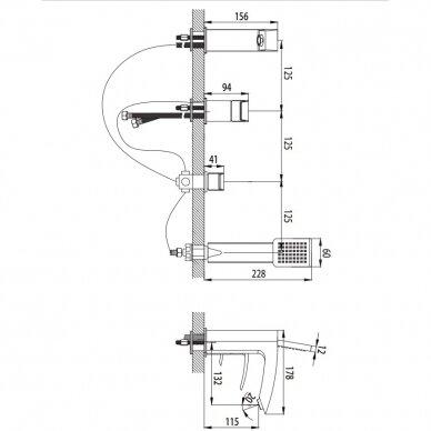 Maišytuvas voniai Omnires MURRAY MU613 3