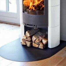 Metalinė grindų apsauga krosnelei Nibe 30, juodos spalvos