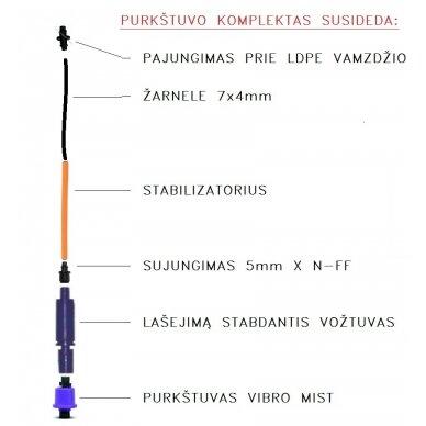 Mikropurkštuvas Vibro Mist 40 l/val. 2