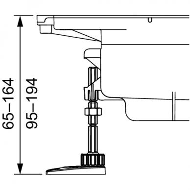 Montavimo kojelės TECEdrainprofile 3