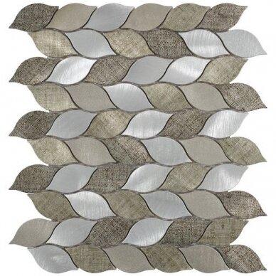 Mozaika Rock Art Grid Leaves Beige