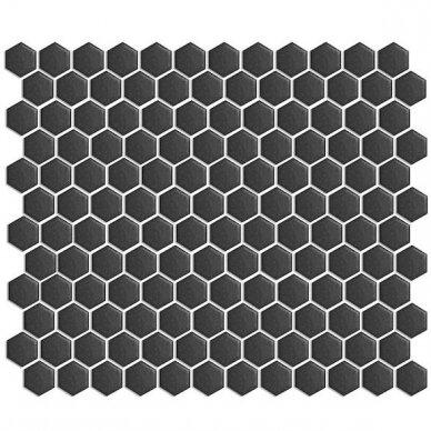 Mozaika Rock Art Hexagono Mini Negro