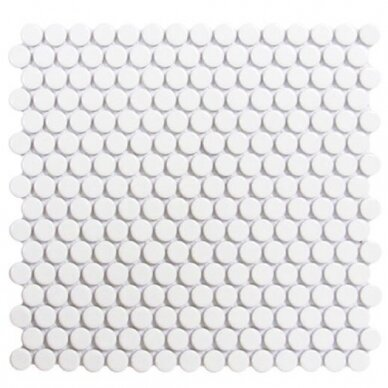 Mozaika Rock Art Penny Round Blanco