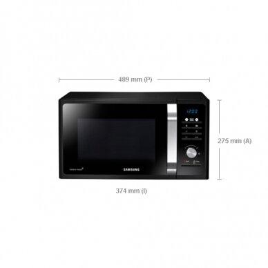 Mikrobangų krosnelė Samsung MS23F301TAK/BA 2