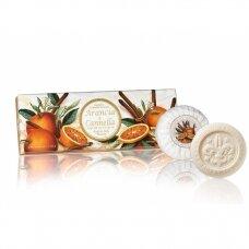 Muilų rinkinys Saponificio Artigianale Fiorentino apelsinų ir cinamono kvapo 3x100 g
