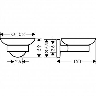 Muilinė su metaliniu laikikliu Hansgrohe Logis Universal 2
