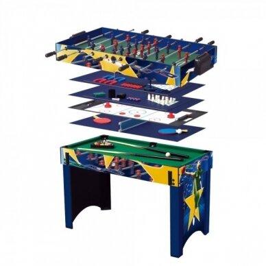 Multifunkcinis žaidimų stalas Worker 13-in-1 81x113x62 cm