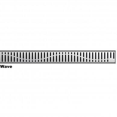 Nerūdijančio plieno dušo latako grotelės Aco ShowerDrain C 60, 70, 80, 90, 100, 110, 120 cm 2