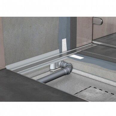 Nerūdijančio plieno dušo latako grotelės Aco ShowerDrain C 60, 70, 80, 90, 100, 110, 120 cm 11