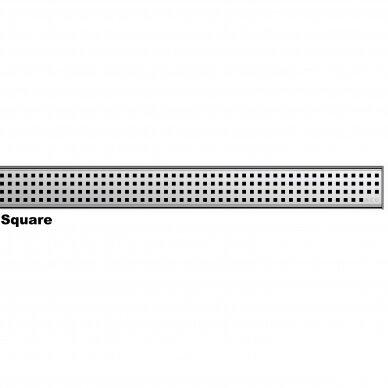 Nerūdijančio plieno dušo latako grotelės Aco ShowerDrain C 60, 70, 80, 90, 100, 110, 120 cm 4