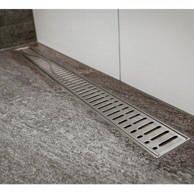 Nerūdijančio plieno dušo latako grotelės Aco ShowerDrain C 60, 70, 80, 90, 100, 110, 120 cm 9
