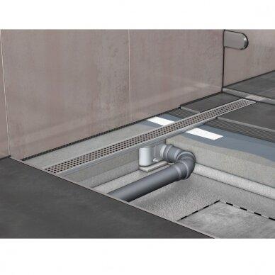 Nerūdijančio plieno dušo latako grotelės Aco ShowerDrain C 60, 70, 80, 90, 100, 110, 120 cm 10