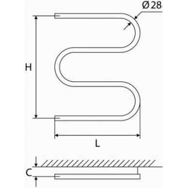 Nerūdijančio plieno gyvatukas Elonika EN 400/460/470 S/SD 5