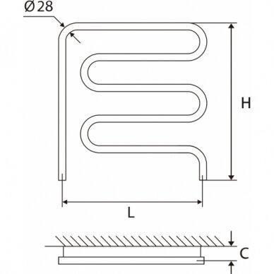 Nerūdijančio plieno gyvatukas Elonika EN 50/57x62 kairinis/dešininis 4