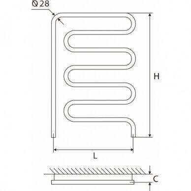 Nerūdijančio plieno gyvatukas Elonika EN 50/57x86 kairinis/dešininis 4