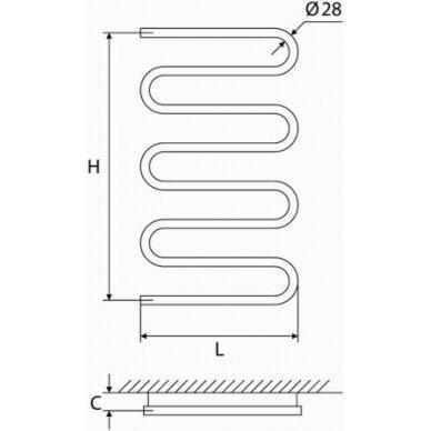 Nerūdijančio plieno gyvatukas Elonika EN 800/858 S/SD 5