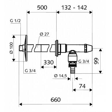 Neužšąlantis ventilis Polar II 200-500mm 2