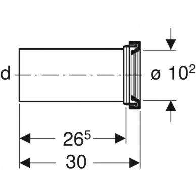 Nuotekų jungtis pakabinamam WC puodui Geberit HDPE 3