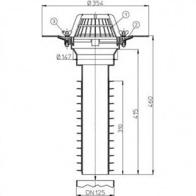 Nuotekų sistema HL 69/2 DN 125 2