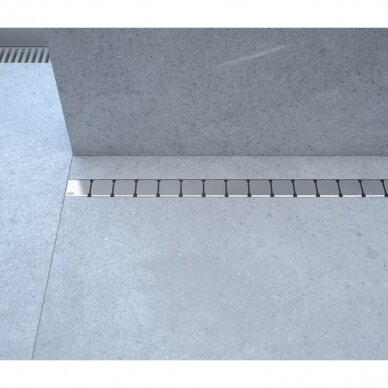 Nutekamasis dušo latakas Ravak 10° - 75, 85, 95,105 cm 2