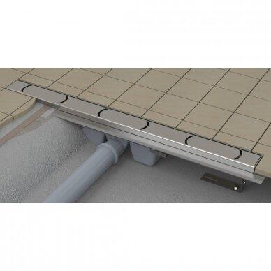 Nutekamasis dušo latakas Ravak Chrome 75, 85, 95,105 cm 3